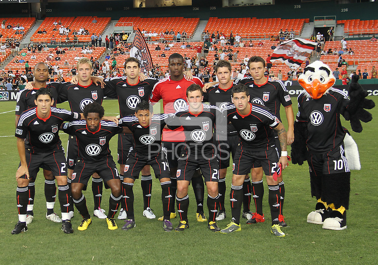 Starting eleven of D.C. United during a US Open Cup semi final match against the Columbus Crew at RFK Stadium on September 1 2010, in Washington DC. Columbus won 2-1 aet.