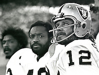 Raiders Jack Tatum, George Atkinson and Ken Stabler..Copyright Ron Riesterer