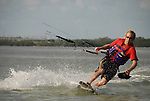 Kite boarder glides by off Islamorada Fl