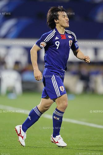 ?ªèT?i/Shinji Okazaki (JPN), JANUARY 25, 2011 - Football : Shinji Okazaki celebrates scoring his penalty goal during the ..AFC Asian Cup semi final soccer match between Japan 2-2 (PK 3-0 ) South Korea at Al-Gharafa Stadium ..in Doha, Qatar...(Photo by Yusuke Nakanishi/AFLO SPORT) [1090]