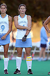 17 October 2014: North Carolina's Samantha Travers (ZIM). The Duke University Blue Devils hosted the University of North Carolina Tar Heels at Jack Katz Stadium in Durham, North Carolina in a 2014 NCAA Division I Field Hockey match. UNC won the game 1-0.