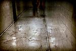The interior of an underground walkway