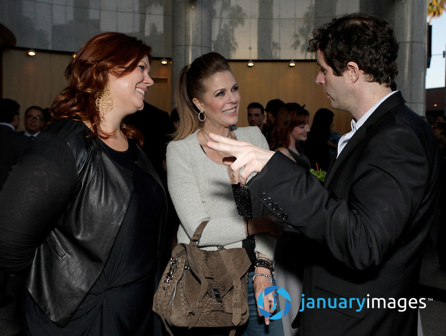 "BEVERLY HILLS, CA - JUNE 06:  Producer Kara Baker, Rita Wilson and Director Gavin Wiesen attend a Fox Searchlight screening Of ""The Art Of Getting By"" at Clarity Theater on June 6, 2011 in Beverly Hills, California.  (Photo by Todd Williamson/WireImage)"