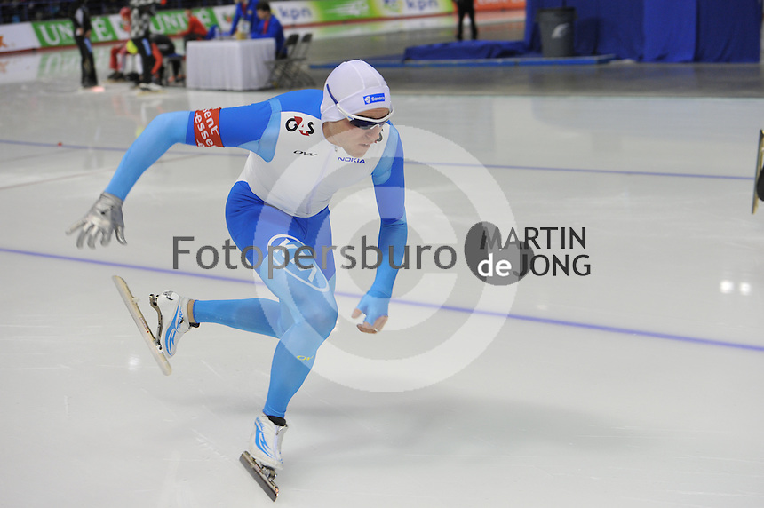 SCHAATSEN: CALGARY: Olympic Oval, 08-11-2013, Essent ISU World Cup, 500m, Mika Poutala (FIN), ©foto Martin de Jong