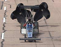 Feb 26, 2017; Chandler, AZ, USA; NHRA top fuel driver Shawn Reed during the Arizona Nationals at Wild Horse Pass Motorsports Park. Mandatory Credit: Mark J. Rebilas-USA TODAY Sports