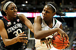 01 APRIL 2012:  Nnemkadi Ogwumike (30) of Stanford University pressures Destiny Williams (10) of Baylor University during the Division I Women's Final Four semifinals at the Pepsi Center in Denver, CO.  Baylor defeated Stanford 59-47 to advance to the championship final.  Jamie Schwaberow/NCAA Photos
