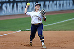 25 April 2016: Notre Dame's Melissa Rochford. The University of North Carolina Tar Heels hosted the University of Notre Dame Fighting Irish at Anderson Stadium in Chapel Hill, North Carolina in a 2016 NCAA Division I softball game. UNC won the game 7-6.