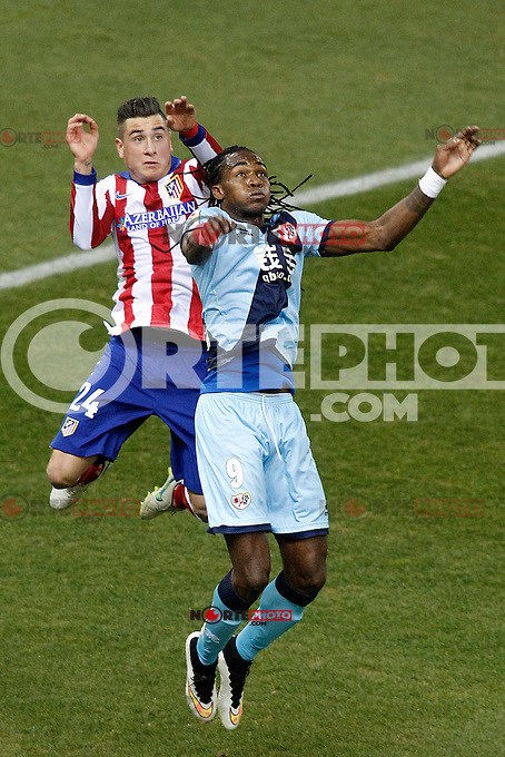 Atletico de Madrid's Jose Maria Gimenez (l) and Rayo Vallecano's Manucho during La Liga match.January 24,2015. (ALTERPHOTOS/Acero) /NortePhoto<br />