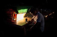 In the dimly lit Russian Market Phnom Penh, Cambodia