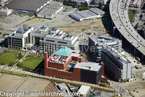 aerial photograph Mission Bay biotech district San Francisco California