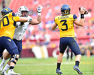 Landover, MD - SEPT 24, 2016: West Virginia Mountaineers quarterback Skyler Howard (3) in action during their match up against BYU at FedEx Field in Landover, MD. (Photo by Phil Peters/Media Images International)