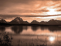 The Tetons at Sunset