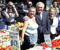 2/5/'07.An Taoiseach Bertie Ahern canvassing on Dublin's Moore St.in Dublin today..Pic Collins Photos.