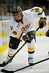 21 February 2009: University of Vermont Catamount forward Jay Anctil, a Junior from Wolfeboro, NH, in action against the University of Massachusetts River Hawks at Gutterson Fieldhouse in Burlington, Vermont. The River Hawks shut out the Catamounts 1-0. Mandatory Photo Credit: Ed Wolfstein Photo