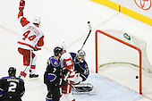 Todd Bertuzzi (Detroit Red Wings, #44) celebrate goal during ice-hockey match between Los Angeles Kings and Detroit Red Wings in NHL league, February 28, 2011 at Staples Center, Los Angeles, USA. (Photo By Matic Klansek Velej / Sportida.com)