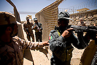 "Soldiers from the Czech Republic train policemen of the Afghan National Police (ANP) into becoming a ""SWAT"" elite team at FOB Shank in the province of Logar in Afghanistan on Sunday, May 31st 2009...Photo: Guilad Kahn."