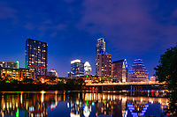 We capture another image from the hike and bike trail of the Austin skyline at dark.    It is a wonderful view along the Lady Bird Lake and all the trails or just sitting enjoying the view from Vic Mathais Shore formally Auditorium Shores.