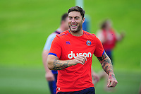 Matt Banahan of Bath Rugby looks on. Bath Rugby pre-season skills training on June 21, 2016 at Farleigh House in Bath, England. Photo by: Patrick Khachfe / Onside Images