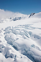 Crevasses on Fox Glacier, South Island, New Zealand