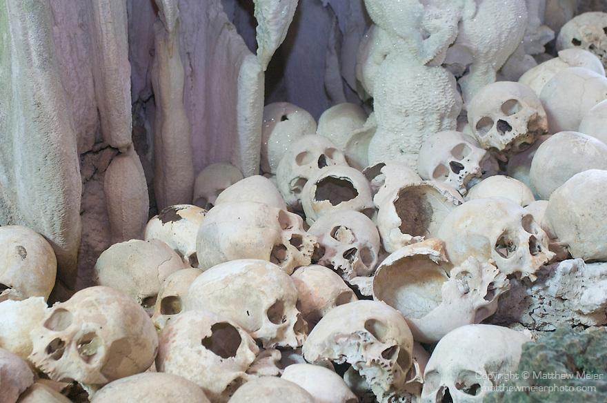 Milne Bay, Papua New Guinea; interior, skull cave #2 , Copyright © Matthew Meier, matthewmeierphoto.com
