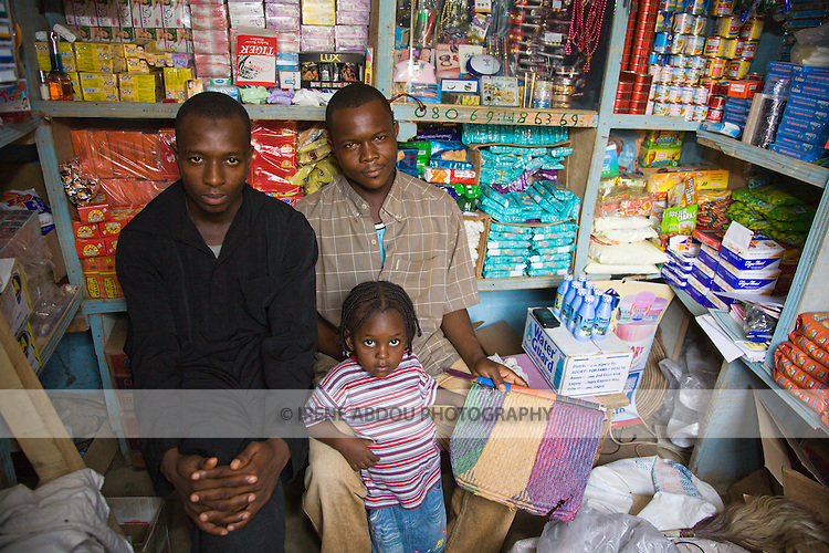 A shop in the Gyadi-Gyadi area of Kano, Nigeria sells multiple wares, including a health product called Waterguard.  Waterguard is a chlorine-based product that makes water safe to drink and is distributed by the Nigerian NGO, the Society for Family Health (SFH), through social marketing.  SFH is the largest indigenous NGO in Nigeria and is the Nigerian partner of the US-based international NGO, Population Services International.