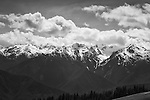 Spectacular clouds piled against the peaks on Hurricane Ridge, Olympic National Park.