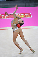 September 19, 2011; Montpellier, France;  EVGENIYA KANAEVA of Russia performs with ball at 2011 World Championships.