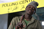 South Sudanese residing in Kenya vote during the secession referendum at Nairobi's Railway Club polling station.