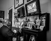 Civil rights icon and Georgia Rep John Lewis listens to Hillary Clinton's testimony in front of Benghazi committee in Washington, DC.<br /> PHOTOS/John Nelson
