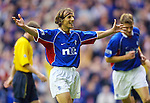 Claudio Caniggia celebrates scoring