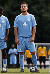 06 September 2009: UNC's Brett King. The University of North Carolina Tar Heels defeated the Evansville University Purple Aces 4-0 at Fetzer Field in Chapel Hill, North Carolina in an NCAA Division I Men's college soccer game.