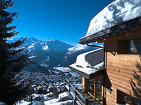 One of the spectacular views of the Swiss Alps from the Urvois' family chalet