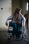 Rusha Zayoun, 17 who lost her leg to a cluster bomb when her father brought it inside the house and it exploded. She has not been to school since and is very shy. Maaraki village, South Lebanon