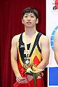Yasuhiro Ueyama (JPN), JULY 9, 2011 - Trampoline : 2011 FIG Trampoline World Cup Series Kawasaki Men's Synchro Final at Todoroki Arena, Kanagawa, Japan.(Photo by YUTAKA/AFLO SPORT) [1040]