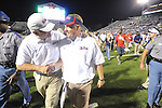 Ole Miss Coach Hugh Freeze at Vaught-Hemingway Stadium in Oxford, Miss. on Saturday, September 1, 2012. Ole Miss won 49-27 in freeze's head coaching debut at Ole Miss.