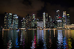 Marina Bay waterfront Singapore city skyline