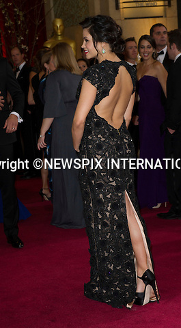 """CHANNING TATUM and JENNA DEWAN..Red Carpet arrival for the 85th Annual Academy Awards, Dolby Theatre, Hollywood, Los Angeles_23/02/2013.Mandatory Photo Credit: ©Dias/Newspix International..**ALL FEES PAYABLE TO: """"NEWSPIX INTERNATIONAL""""**..PHOTO CREDIT MANDATORY!!: NEWSPIX INTERNATIONAL(Failure to credit will incur a surcharge of 100% of reproduction fees)..IMMEDIATE CONFIRMATION OF USAGE REQUIRED:.Newspix International, 31 Chinnery Hill, Bishop's Stortford, ENGLAND CM23 3PS.Tel:+441279 324672  ; Fax: +441279656877.Mobile:  0777568 1153.e-mail: info@newspixinternational.co.uk"""