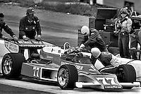 "HAMPTON, GA - APRIL 22:David ""Salt"" Walther makes a pit stop in his Penske PC6/Cosworth TC) during the Gould Twin Dixie 125 event on April 22, 1979, at Atlanta International Raceway near Hampton, Georgia."