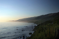 4 August 2006: Scenic view looking north along Highway 1 through central California along the coast of Big Sur.