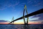 Arthur Ravenel Jr Bridge Sunset Cooper River