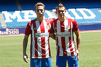 Atletico de Madrid's  Diogo Jota and Santos Borre.