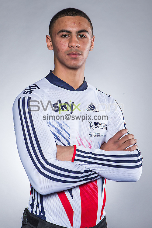 Picture by Alex Whitehead/SWpix.com - 18/11/2015 - Cycling - Great Britain BMX Portraits - National Cycling Centre, Manchester, England - Great Britain's Quillan Isidore