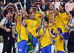 Fussball  International  FIFA  FUTSAL WM 2008   19.10.2008 Finale Brasil - Spain Brasilien - Spanien Die Brasilianer feiern nach dem Gewinn des WM-Titels