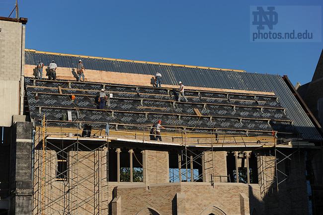 Eck Law School addition construction, July 2008..Photo by Matt Cashore/University of Notre Dame