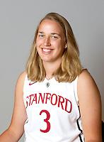 Mikaela Ruef with Stanford Women's basketball team. Photo taken on Wednesday, October 2, 2013