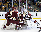 - The Boston College Eagles defeated the Harvard University Crimson 4-1 in the opening round of the 2013 Beanpot tournament on Monday, February 4, 2013, at TD Garden in Boston, Massachusetts.