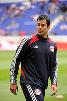New York Red Bulls individual development coach Mike Petke. The New York Red Bulls defeated the Colorado Rapids 4-1 during a Major League Soccer (MLS) match at Red Bull Arena in Harrison, NJ, on March 25, 2012.