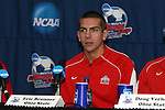 15 December 2007: Ohio State's Eric Brunner. The Ohio State Buckeyes held a press conference at SAS Stadium in Cary, North Carolina one day before playing in the NCAA Division I Mens College Cup championship game.