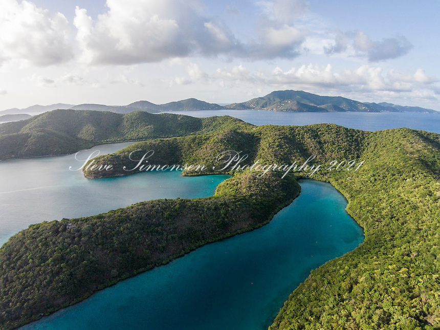 Hurricane Hole aerial<br />