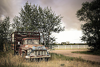 Rusty Ranch Hand - Chevy Truck - Wyoming